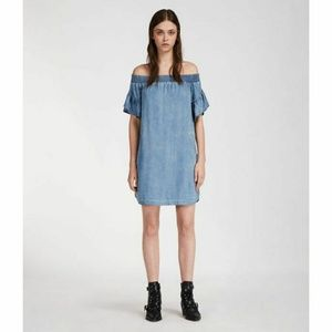 NWT All Saints Adela Chambray Dress